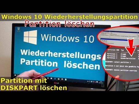 Windows 10 Wiederherstellungspartition löschen [450MB] mit DISKPART Partition löschen [gelöst]