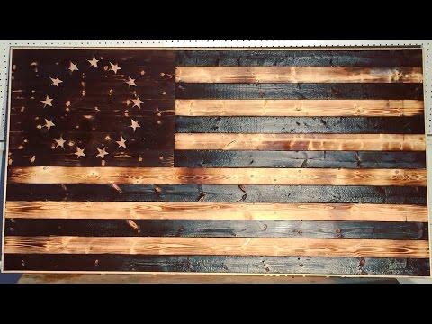DIY Wood-Burned American Flag | Modern Builds | EP. 17