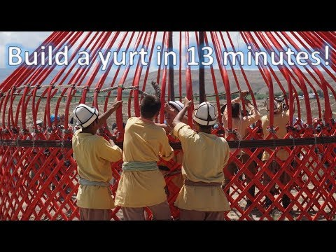 Kyrgyzstan / How to build a traditional yurt in 13 minutes