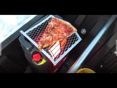 COOKING ON A PORTABLE BUDDY HEATER!!