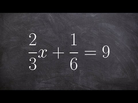 Solve equations with fractions from a two step equation
