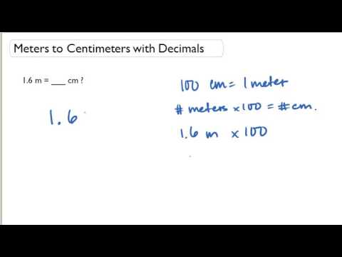 Meters to Centimeters with Decimals
