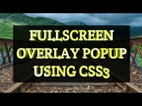 How to create full screen overlay Popup using CSS only
