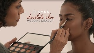 Elegant Bridal Makeup For Dark Skin | Glamrs Makeup Tutorial with Pallavi Symons
