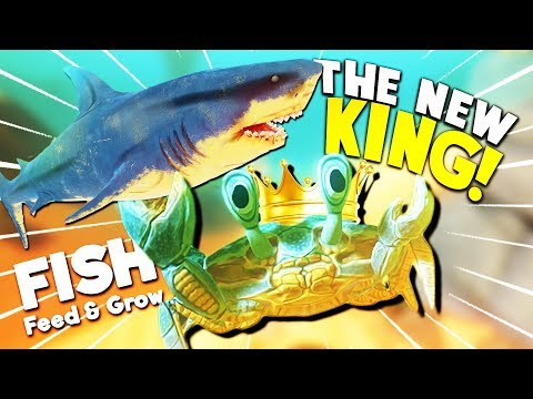 NEW COLOSSAL CRAB TAKES DOWN GREAT WHITE SHARK!? | Feed And Grow Fish Gameplay