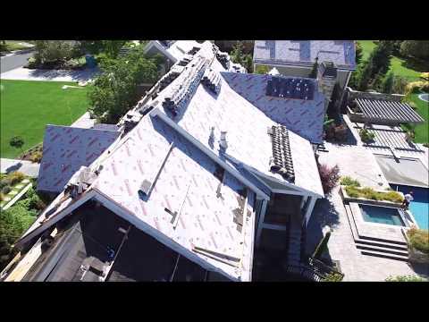 CeDUR Shake roof installation