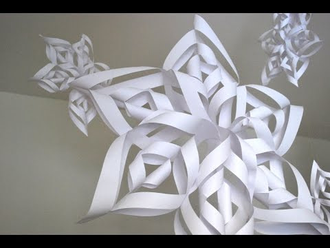 How To Make A 3D Snowflake   HD