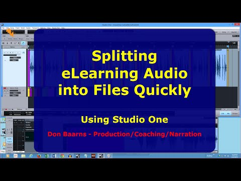 Quickly Splitting eLearning Audio/Narration into Files