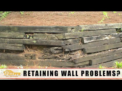 Railroad Tie Retaining Wall Problems? Retaining Wall Repair or Replace | 704.787.6972