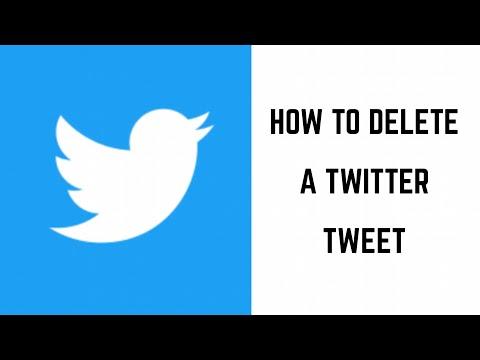 How to Delete Twitter Tweet