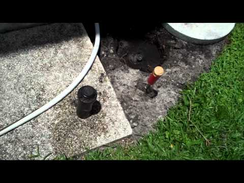 How to fix a leaking sprinkler head