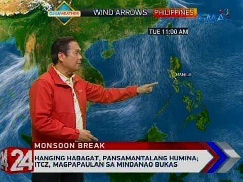 Xxx Mp4 24 Oras Hanging Habagat Pansamantalang Humina ITCZ Magpapaulan Sa Mindanao Bukas 3gp Sex