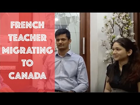 Snehal, a French teacher migrating to Canada