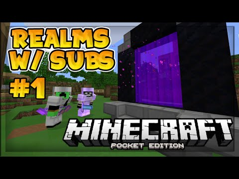 MCPE 0.15.1 Realms With Subscribers! - Ep. 1 - Minecraft PE (Pocket Edition)