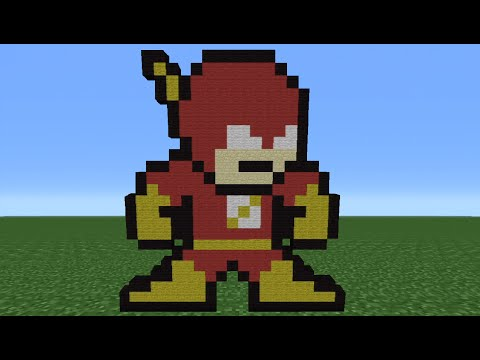Minecraft Tutorial: How To Make The Flash (8-Bit)