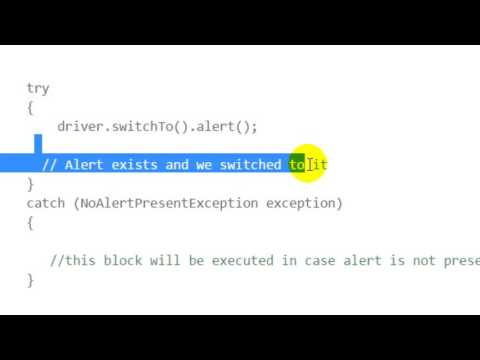 Check if alert or modal dialog is open in Selenium