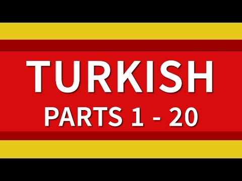 Learn Turkish 500 Phrases for Beginners Lessons 1-20 Full Course