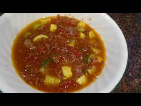 squash beef soup  LOW carb