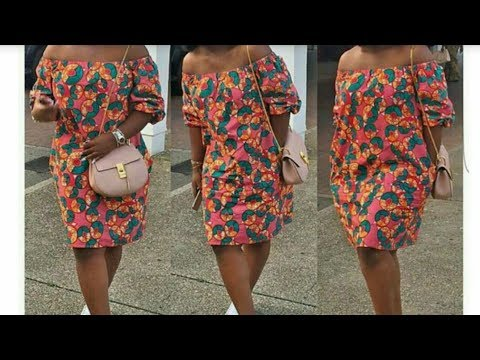 How to make off shoulder dress with elastic