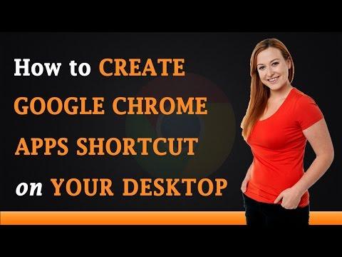 How to Create Google Chrome Application Shortcut on Your Desktop