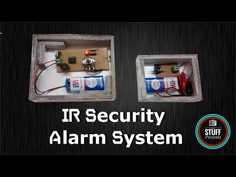 IR Based Security or Alarm system using LM358 with Light & Buzzer indication