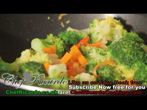 Broccoli & Carrot With Fry Up Vegetarian Recipe | Recipes By Chef Ricardo