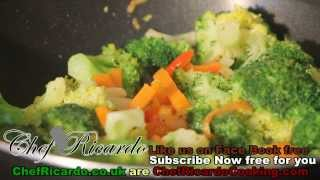 Broccoli Carrot With Fry Up Vegetarian Recipe