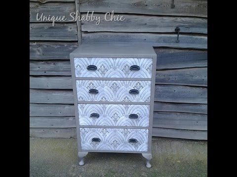 'How To' Shabby Chic a Chest of Drawers with Lace Effect Stencil