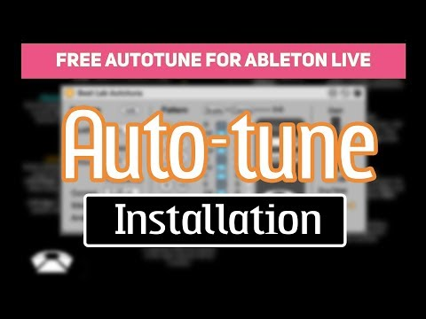 How to - Ableton Live Suite Autotune Plugin Installation