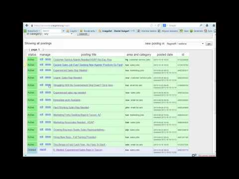 Craigslist Ad Tracker Cool Trick! How to Change Your Ads!