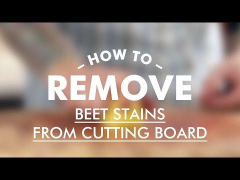 How To Remove Beet Stains From Cutting Board || Gastrolab Basic Cooking Skills