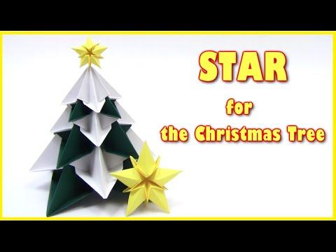 Christmas Origami STAR for the Christmas tree - Yakomoga Origami tutorial