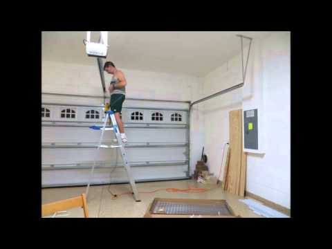 Time-lapsed installation of ceiling mounted shelves
