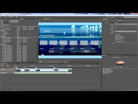 Adobe Encore - Authoring a DVD Part 3 - Creating DVD navigation and links