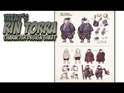 Demo #33 - Rin Torra character design sheet