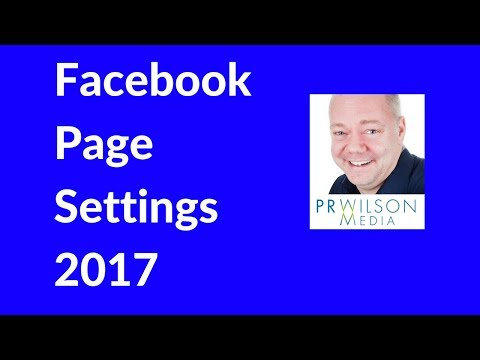 Facebook page settings 2017
