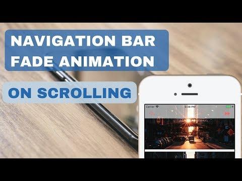 Navigation Bar Fade Animation On Scrolling iOS | Xcode 9/ Swift 4