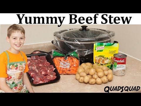Beef Stew in the Slow Cooker Recipe - Kitchen Adventures with Ethan