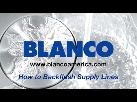 How to backflush your supply lines