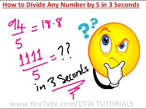 How to Divide Any Number by 5 in 3 Seconds | Maths Trick