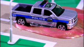 The Police Chase with Racing Cars Monster Trucks & Police Cars Video For Kids