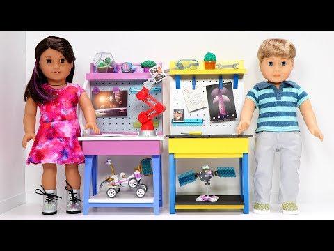 DIY American Girl Doll Workbench