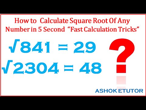How to Find Square Root of any number, fast math tricks