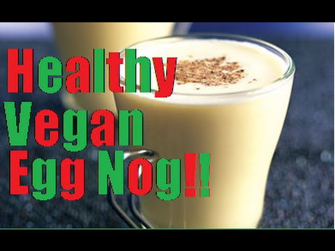 Vegan Egg Nog Recipe - Healthy Holiday EggNog! [SIMPLE]