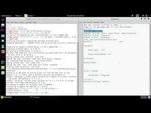 FTP server configuration in kali Linux