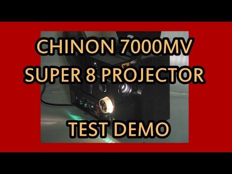 Chinon 7000MV Super 8 Projector Film Test Demo