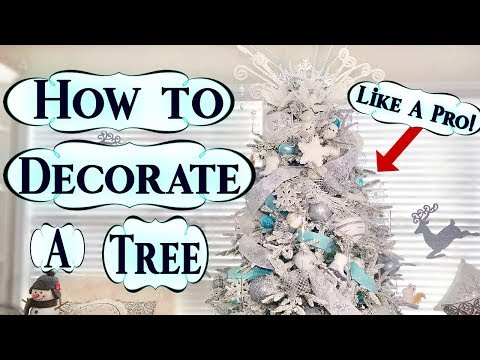 How To Decorate A Christmas Tree like A Pro🎄|Glam Winter Wonderland Tree Guide| 🎄✨