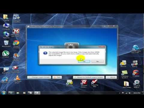 How to change windows 7 logon screen & boot screen - Easy Hack