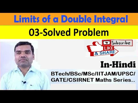 How to find the limits of a double integral in Hindi