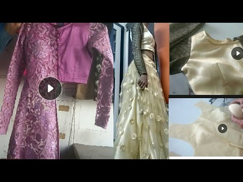DESIGNER PADDED BLOUSE CUTTING AND STITCHING IN HINDI